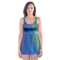 Space Design Abstract Sky Storm Skater Dress Swimsuit