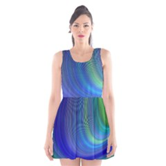 Space Design Abstract Sky Storm Scoop Neck Skater Dress