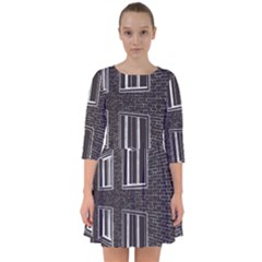 Graphics House Brick Brick Wall Smock Dress