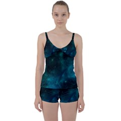 Space All Universe Cosmos Galaxy Tie Front Two Piece Tankini