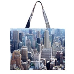 Manhattan New York City Zipper Large Tote Bag