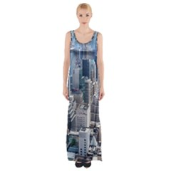 Manhattan New York City Maxi Thigh Split Dress