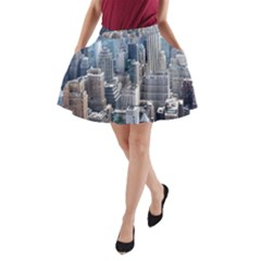 Manhattan New York City A Line Pocket Skirt