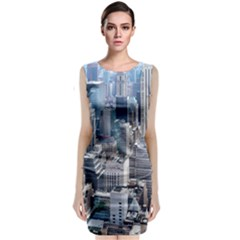 Manhattan New York City Classic Sleeveless Midi Dress