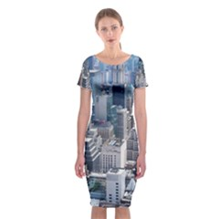 Manhattan New York City Classic Short Sleeve Midi Dress