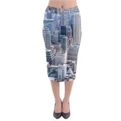 Manhattan New York City Midi Pencil Skirt