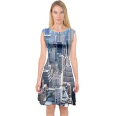 Manhattan New York City Capsleeve Midi Dress
