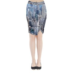 Manhattan New York City Midi Wrap Pencil Skirt