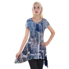 Manhattan New York City Short Sleeve Side Drop Tunic