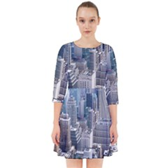 Manhattan New York City Smock Dress