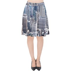 Manhattan New York City Velvet High Waist Skirt