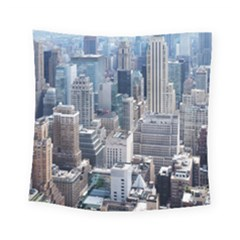 Manhattan New York City Square Tapestry (small) by Nexatart
