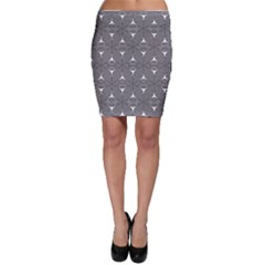 Seamless Weave Ribbon Hexagonal Bodycon Skirt
