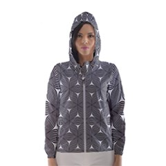 Seamless Weave Ribbon Hexagonal Hooded Wind Breaker (women)