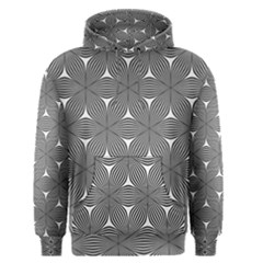 Seamless Weave Ribbon Hexagonal Men s Pullover Hoodie
