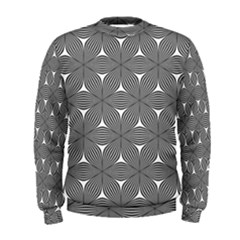 Seamless Weave Ribbon Hexagonal Men s Sweatshirt