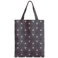 Seamless Weave Ribbon Hexagonal Zipper Classic Tote Bag