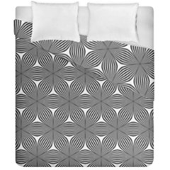 Seamless Weave Ribbon Hexagonal Duvet Cover Double Side (california King Size)