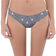Seamless Weave Ribbon Hexagonal Reversible Hipster Bikini Bottoms