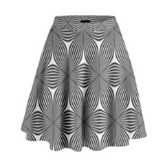 Seamless Weave Ribbon Hexagonal High Waist Skirt
