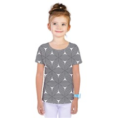 Seamless Weave Ribbon Hexagonal Kids  One Piece Tee