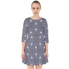 Seamless Weave Ribbon Hexagonal Smock Dress