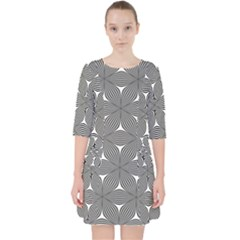 Seamless Weave Ribbon Hexagonal Pocket Dress