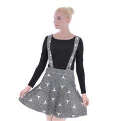 Seamless Weave Ribbon Hexagonal Suspender Skater Skirt