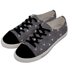 Seamless Weave Ribbon Hexagonal Men s Low Top Canvas Sneakers by Nexatart