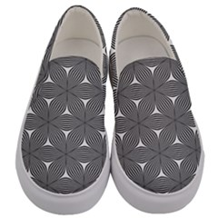 Seamless Weave Ribbon Hexagonal Men s Canvas Slip Ons
