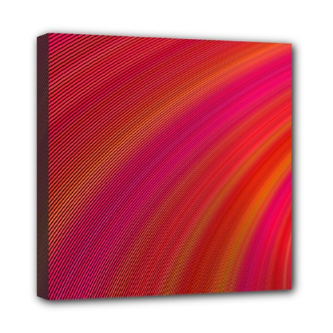 Abstract Red Background Fractal Mini Canvas 8  X 8