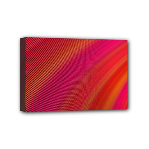 Abstract Red Background Fractal Mini Canvas 6  X 4