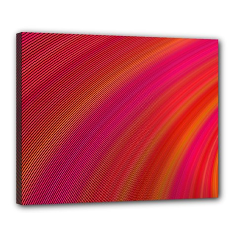 Abstract Red Background Fractal Canvas 20  X 16