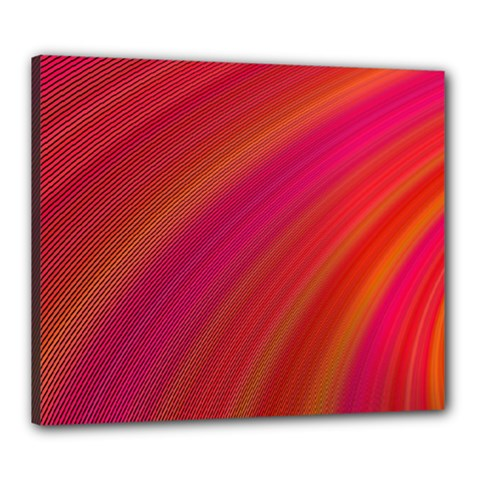 Abstract Red Background Fractal Canvas 24  X 20