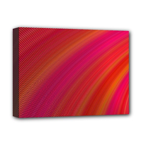 Abstract Red Background Fractal Deluxe Canvas 16  X 12
