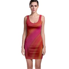 Abstract Red Background Fractal Bodycon Dress