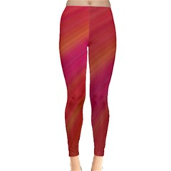 Abstract Red Background Fractal Leggings