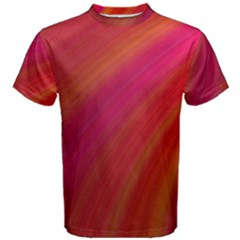 Abstract Red Background Fractal Men s Cotton Tee
