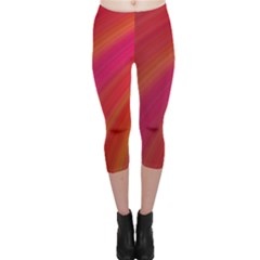 Abstract Red Background Fractal Capri Leggings