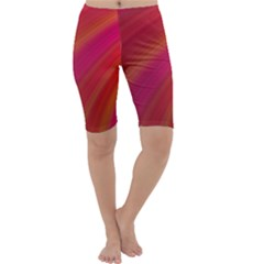Abstract Red Background Fractal Cropped Leggings