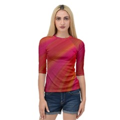 Abstract Red Background Fractal Quarter Sleeve Raglan Tee