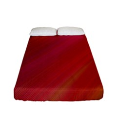 Abstract Red Background Fractal Fitted Sheet (full/ Double Size)