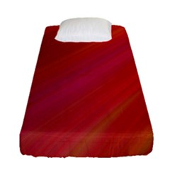 Abstract Red Background Fractal Fitted Sheet (single Size)