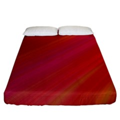 Abstract Red Background Fractal Fitted Sheet (king Size)