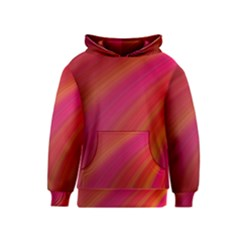 Abstract Red Background Fractal Kids  Pullover Hoodie
