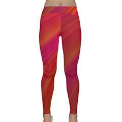 Abstract Red Background Fractal Classic Yoga Leggings