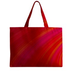 Abstract Red Background Fractal Zipper Mini Tote Bag
