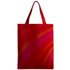 Abstract Red Background Fractal Zipper Classic Tote Bag