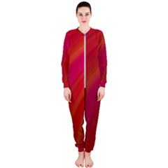 Abstract Red Background Fractal Onepiece Jumpsuit (ladies)