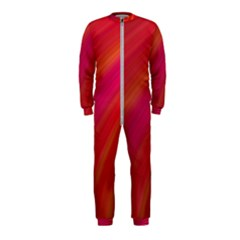 Abstract Red Background Fractal Onepiece Jumpsuit (kids)